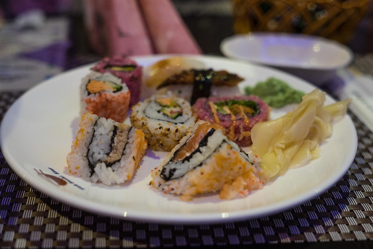 Sushiteller Wok Sushi Star (c) STADTBEKANNT Zohmann