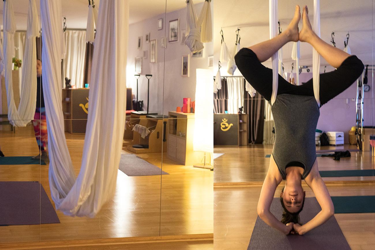Aerial Yoga (c) STADTBEKANNT Zohmann