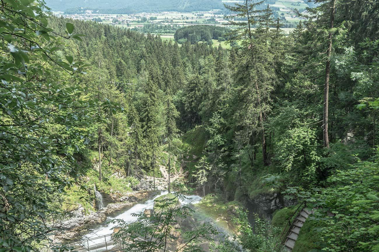 Aussicht Gollinger Wasserfall (c) STADTBEKANNT Zohmann