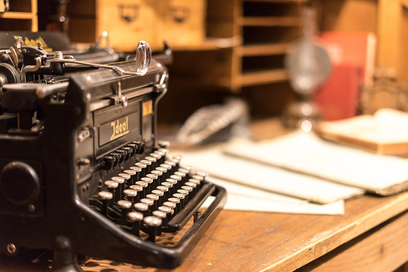 Schreibmaschine im Hoobert (c) STADTBEKANNT Zohmann