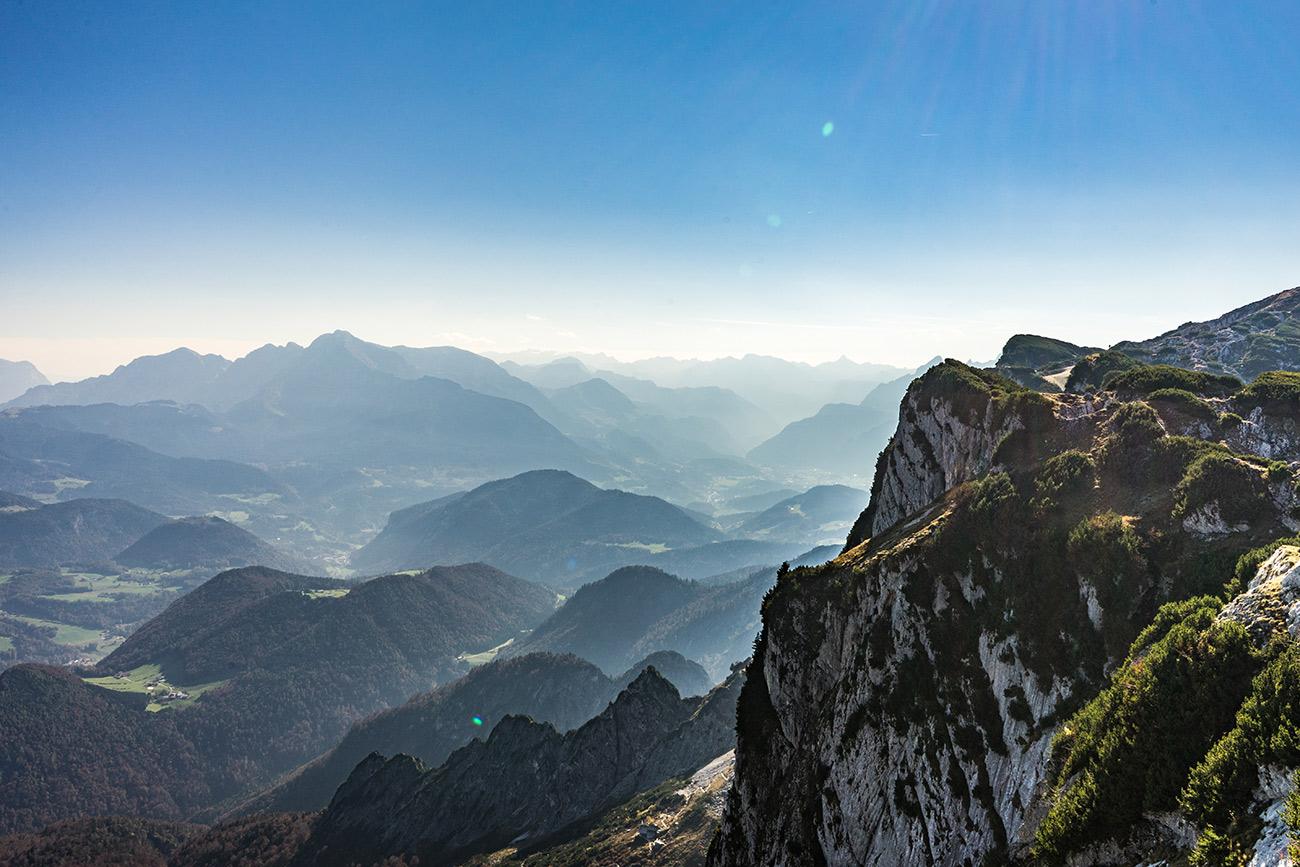 Ausblick vom Dopplersteig am Untersberg (c) STADTBEKANNT Zohmann