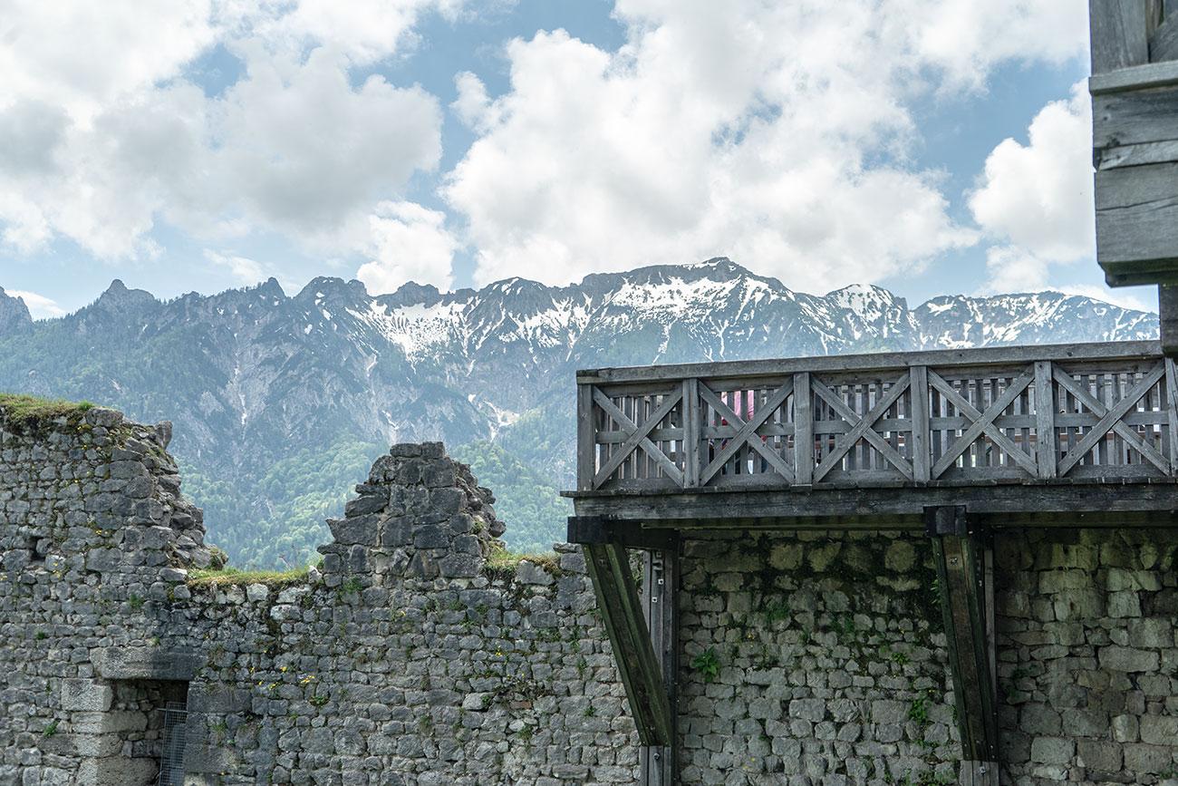 Mauer in der Plainburgruine (c) STADTBEKANNT Zohmann