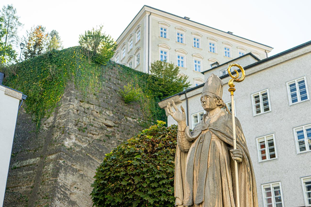 Rupertusbrunnen im Kollegiumshof St. Peter (c) STADTBEKANNT Zohmann