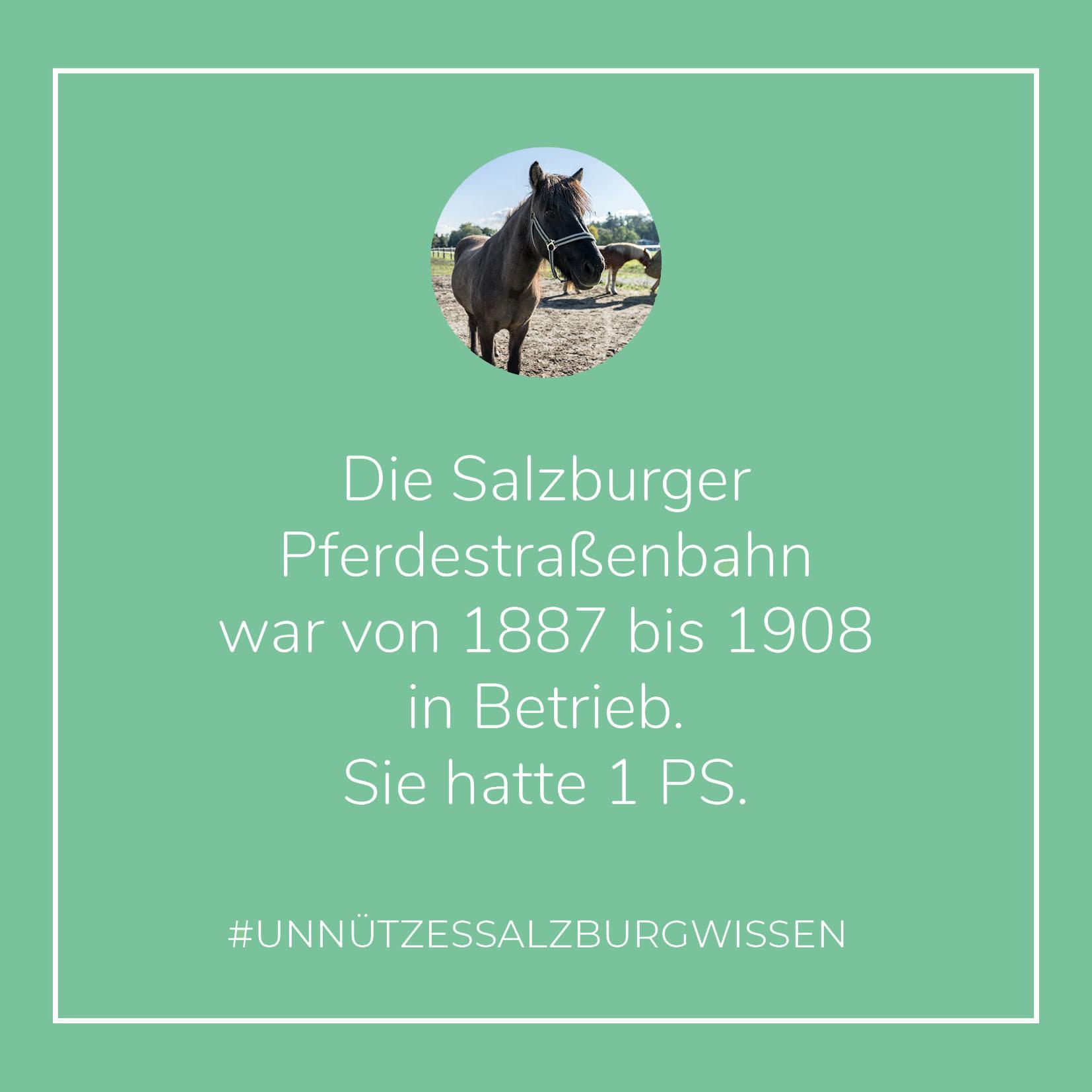 Unnützes SalzburgWissen - Pferdestraßenbahn (c) STADTBEKANNT