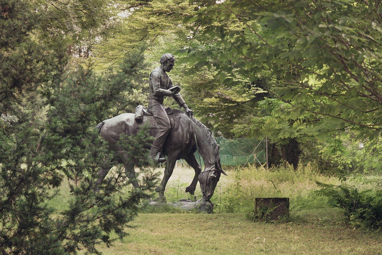 """""""Abraham Lincoln in der Prärie"""" von Anna Hyatt Huntington (c) STADTBEKANNT Zohmann"""